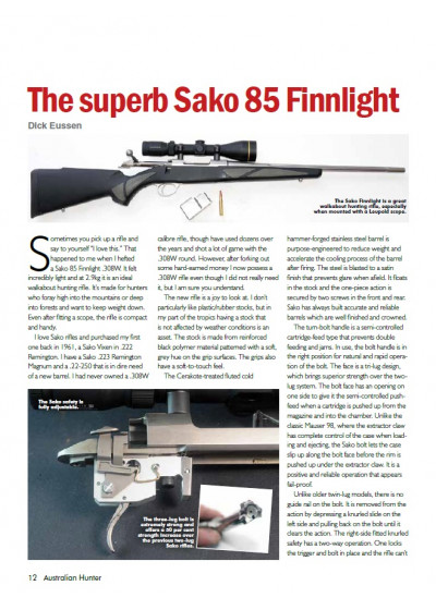 Sako 85 Finnlight by Australian Hunter
