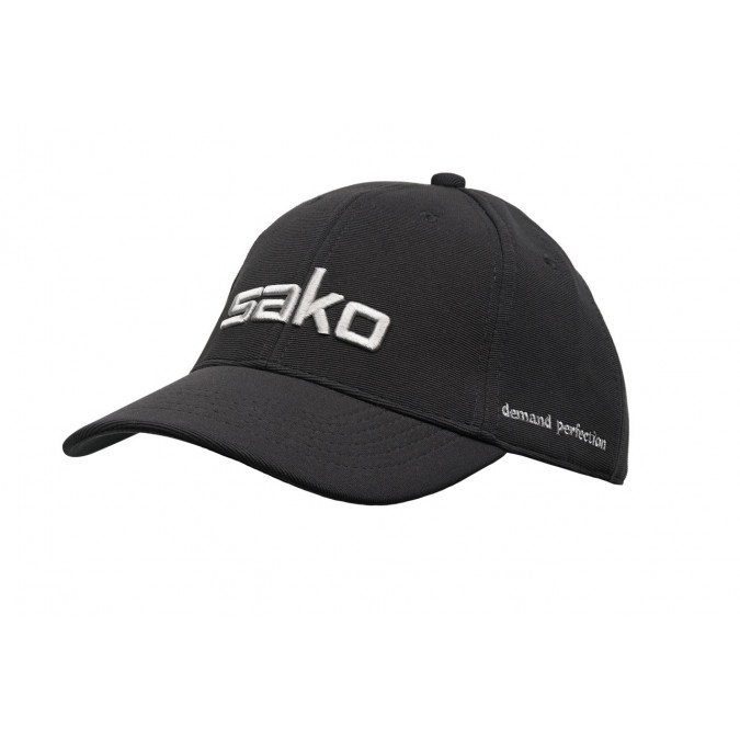 Sako Grey on Black Embroidered Hat