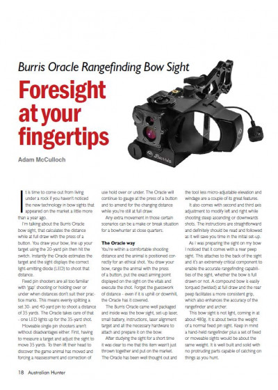 Burris Oracle Rangerfinding Box Sight - Foresight at your fingertips