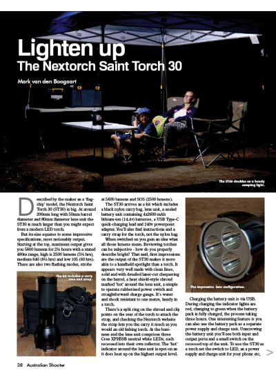 The Nextorch Saint Torch 30 by SSAA