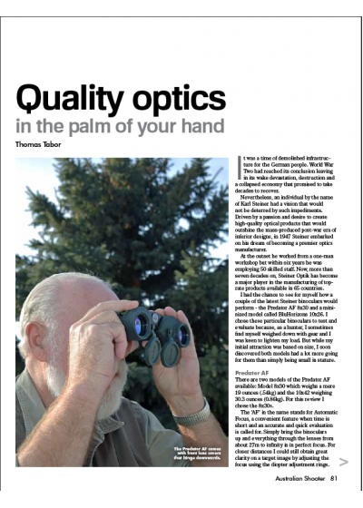 Quality optics in the palm of your hand