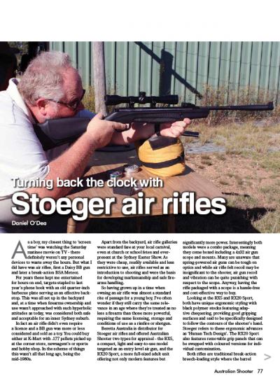 Turning back the clock with Stoeger air rifles
