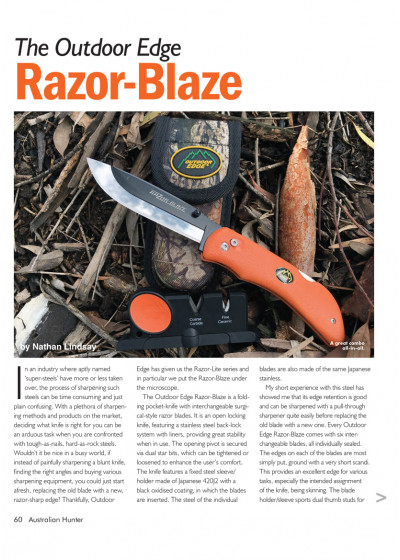Outdoor Edge Razor-Blaze