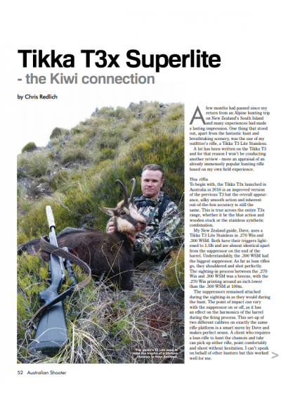 Tikka T3x Superlite - the Kiwi Connection