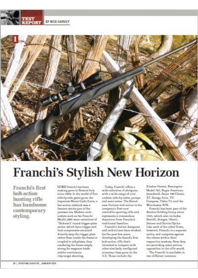 Franchi's Stylish New Horizon