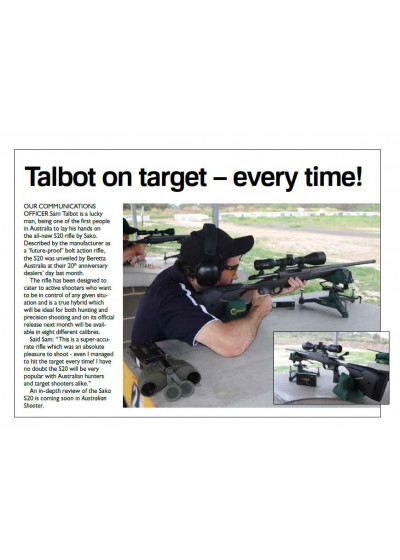 Talbot on target - every time!
