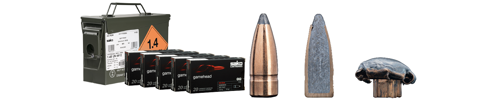 SAKO CARTRIDGES GAMEHEAD